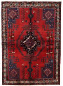 Afshar Alfombra 158X221 Oriental Hecha A Mano Rojo Oscuro/Marrón Oscuro (Lana, Persia/Irán)
