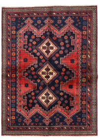 Afshar Alfombra 149X201 Oriental Hecha A Mano Negro/Rojo Oscuro (Lana, Persia/Irán)