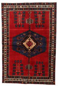 Afshar Alfombra 159X230 Oriental Hecha A Mano Marrón Oscuro/Rojo Oscuro (Lana, Persia/Irán)