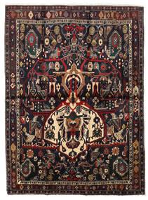 Afshar Shahre Babak Alfombra 136X185 Oriental Hecha A Mano Rojo Oscuro/Marrón Claro (Lana, Persia/Irán)
