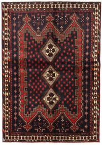 Afshar Alfombra 148X211 Oriental Hecha A Mano Negro/Rojo Oscuro (Lana, Persia/Irán)