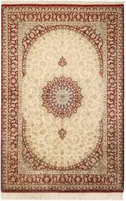 Ghom De Seda Alfombra 132X201 Oriental Hecha A Mano Beige/Marrón Claro (Seda, Persia/Irán)