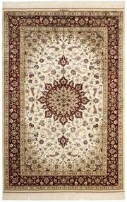 Ghom De Seda Alfombra 132X197 Oriental Hecha A Mano Beige/Marrón (Seda, Persia/Irán)