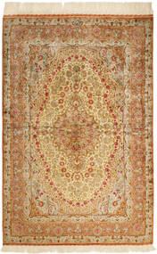 Ghom De Seda Alfombra 102X152 Oriental Hecha A Mano Beige Oscuro/Marrón Claro/Marrón (Seda, Persia/Irán)