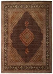 Tabriz 50 Raj Alfombra 250X348 Oriental Tejida A Mano Marrón/Marrón Oscuro Grande (Lana/Seda, Persia/Irán)