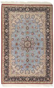 Isfahan Urdimbre De Seda Alfombra 159X246 Oriental Tejida A Mano Gris Claro/Marrón Oscuro (Lana/Seda, Persia/Irán)