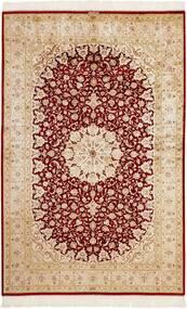 Ghom De Seda Alfombra 159X246 Oriental Hecha A Mano Beige/Rojo Oscuro (Seda, Persia/Irán)