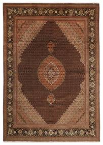 Tabriz 50 Raj Alfombra 251X347 Oriental Hecha A Mano Marrón Oscuro/Marrón Grande (Lana/Seda, Persia/Irán)