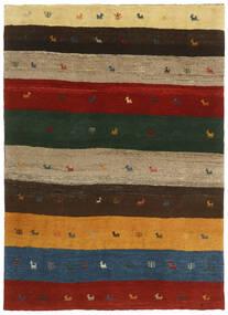Gabbeh Persia Alfombra 123X176 Moderna Hecha A Mano Verde Oscuro/Roja (Lana, Persia/Irán)