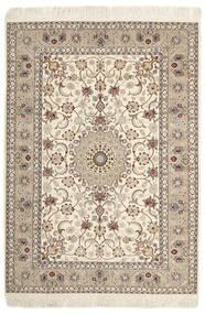 Isfahan Urdimbre De Seda Alfombra 130X182 Oriental Tejida A Mano Gris Claro/Beige (Lana/Seda, Persia/Irán)