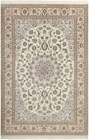 Nain 6La Alfombra 210X308 Oriental Hecha A Mano Gris Claro/Beige (Lana/Seda, Persia/Irán)