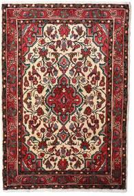 Hamadan Alfombra 80X120 Oriental Hecha A Mano Rojo Oscuro/Beige (Lana, Persia/Irán)