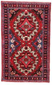 Hamadan Alfombra 76X126 Oriental Hecha A Mano Rojo Oscuro (Lana, Persia/Irán)