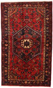 Hamadan Alfombra 136X218 Oriental Hecha A Mano Rojo Oscuro/Negro (Lana, Persia/Irán)