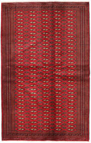 Turkaman Alfombra 134X209 Oriental Hecha A Mano Rojo Oscuro/Roja (Lana, Persia/Irán)