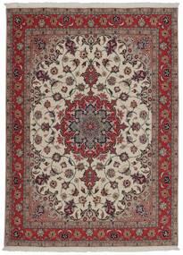 Tabriz 50 Raj Alfombra 151X204 Oriental Tejida A Mano Rojo Oscuro/Gris Claro (Lana/Seda, Persia/Irán)