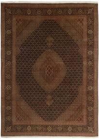Tabriz 50 Raj Alfombra 244X344 Oriental Hecha A Mano Marrón Oscuro/Marrón (Lana/Seda, Persia/Irán)