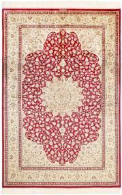 Ghom De Seda Alfombra 161X236 Oriental Hecha A Mano Beige/Rosa Claro (Seda, Persia/Irán)