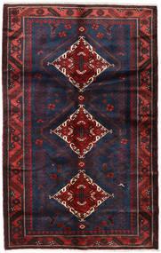 Hamadan Alfombra 135X215 Oriental Hecha A Mano Rojo Oscuro/Negro (Lana, Persia/Irán)