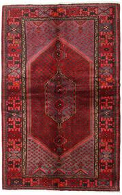 Hamadan Alfombra 137X215 Oriental Hecha A Mano Rojo Oscuro/Marrón Oscuro (Lana, Persia/Irán)