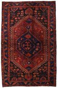 Hamadan Alfombra 138X214 Oriental Hecha A Mano Rojo Oscuro/Marrón Oscuro (Lana, Persia/Irán)