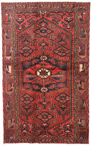 Hamadan Alfombra 120X193 Oriental Hecha A Mano Rojo Oscuro/Marrón Oscuro (Lana, Persia/Irán)