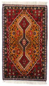 Yalameh Alfombra 63X107 Oriental Hecha A Mano Rojo Oscuro/Marrón (Lana, Persia/Irán)