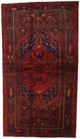 Hamadan Alfombra 132X228 Oriental Hecha A Mano Rojo Oscuro (Lana, Persia/Irán)
