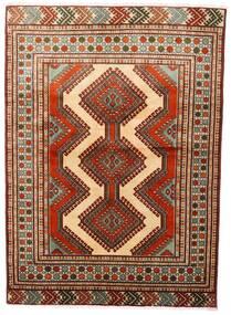 Turkaman Alfombra 125X172 Oriental Hecha A Mano Rojo Oscuro/Marrón Oscuro (Lana, Persia/Irán)