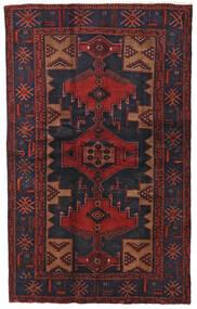 Hamadan Alfombra 124X201 Oriental Hecha A Mano Rojo Oscuro/Negro (Lana, Persia/Irán)