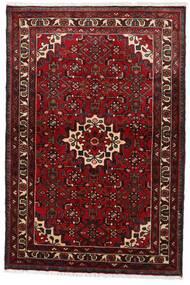 Hosseinabad Alfombra 97X145 Oriental Hecha A Mano Rojo Oscuro (Lana, Persia/Irán)
