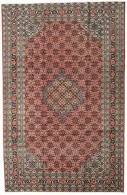 Ardabil Alfombra 196X298 Oriental Hecha A Mano Gris Oscuro/Marrón Claro (Lana, Persia/Irán)