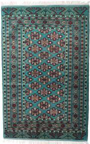 Turkaman Alfombra 135X203 Oriental Hecha A Mano Negro/Gris Oscuro (Lana, Persia/Irán)