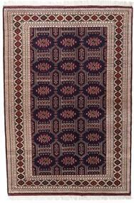 Turkaman Alfombra 134X197 Oriental Hecha A Mano Rojo Oscuro/Marrón Oscuro (Lana, Persia/Irán)