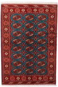 Turkaman Alfombra 132X195 Oriental Hecha A Mano Rojo Oscuro/Negro (Lana, Persia/Irán)
