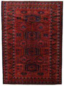 Lori Alfombra 182X248 Oriental Hecha A Mano Rojo Oscuro/Negro (Lana, Persia/Irán)