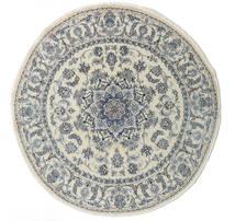 Nain Alfombra Ø 200 Oriental Hecha A Mano Redonda Beige Oscuro/Gris Oscuro/Gris Claro (Lana, Persia/Irán)
