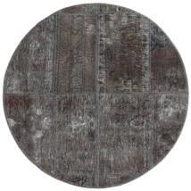 Patchwork - Persien/Iran Alfombra Ø 100 Moderna Hecha A Mano Redonda Gris Oscuro/Negro (Lana, Persia/Irán)