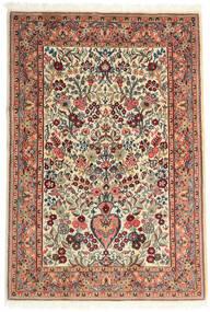 Ghom Kork/De Seda Alfombra 108X157 Oriental Hecha A Mano Beige/Marrón Oscuro (Lana/Seda, Persia/Irán)