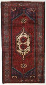Hamadan Alfombra 105X194 Oriental Hecha A Mano Rojo Oscuro/Negro (Lana, Persia/Irán)
