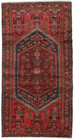 Hamadan Alfombra 100X188 Oriental Hecha A Mano Rojo Oscuro/Marrón Oscuro (Lana, Persia/Irán)