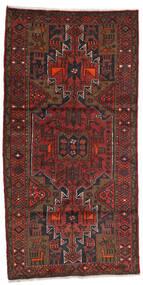 Hamadan Alfombra 100X199 Oriental Hecha A Mano Rojo Oscuro/Marrón Oscuro (Lana, Persia/Irán)