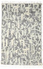 Barchi/Moroccan Berber - Indo Alfombra 160X230 Moderna Hecha A Mano Gris Claro/Gris Oscuro/Blanco/Crema (Lana, India)