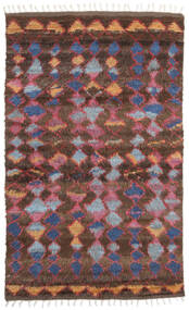 Barchi/Moroccan Berber - Indo Alfombra 160X230 Moderna Hecha A Mano Rojo Oscuro/Marrón Oscuro (Lana, India)