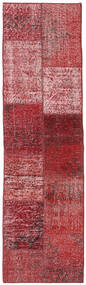Patchwork - Turkiet Alfombra 58X201 Moderna Hecha A Mano Rojo Oscuro/Marrón (Lana, Turquía)