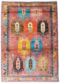 Moroccan Berber - Afghanistan Alfombra 123X170 Moderna Hecha A Mano Rosa Claro/Óxido/Roja (Lana, Afganistán)