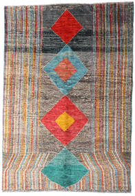 Moroccan Berber - Afghanistan Alfombra 149X216 Moderna Hecha A Mano Gris Oscuro/Gris Claro (Lana, Afganistán)