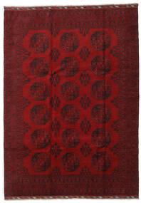 Afghan Alfombra 206X288 Oriental Hecha A Mano Rojo Oscuro/Roja (Lana, Afganistán)