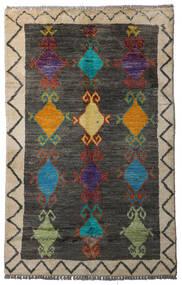 Moroccan Berber - Afghanistan Alfombra 84X134 Moderna Hecha A Mano Gris Oscuro/Gris Claro (Lana, Afganistán)