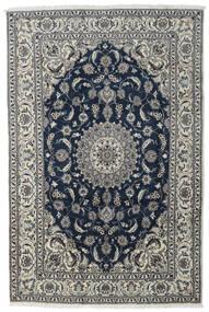 Nain Alfombra 197X296 Oriental Hecha A Mano Gris Oscuro/Gris Claro/Azul Oscuro (Lana, Persia/Irán)